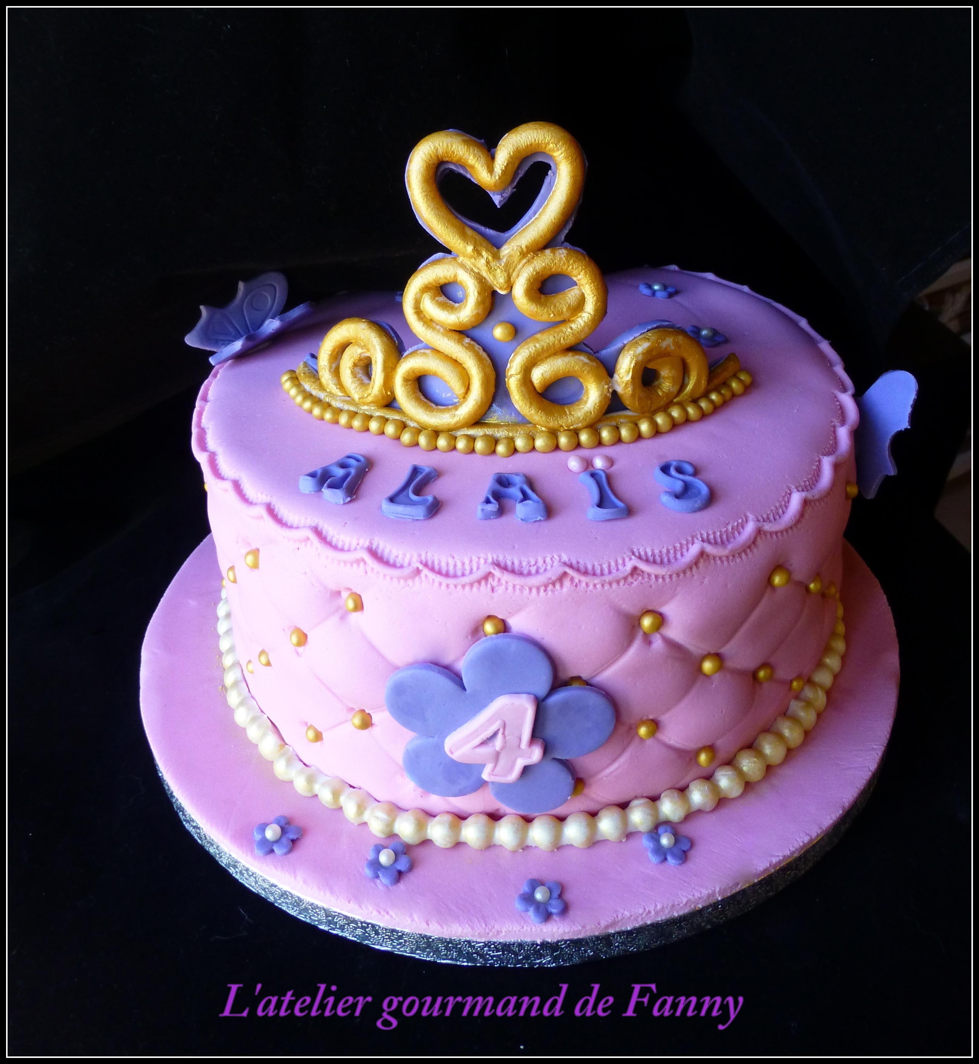 Gâteau d'anniversaire princesse