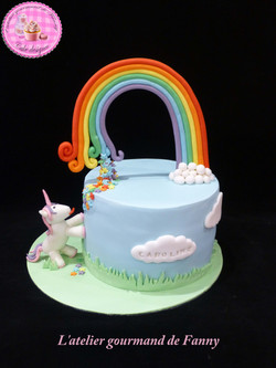 Licorne arc en ciel 10 parts