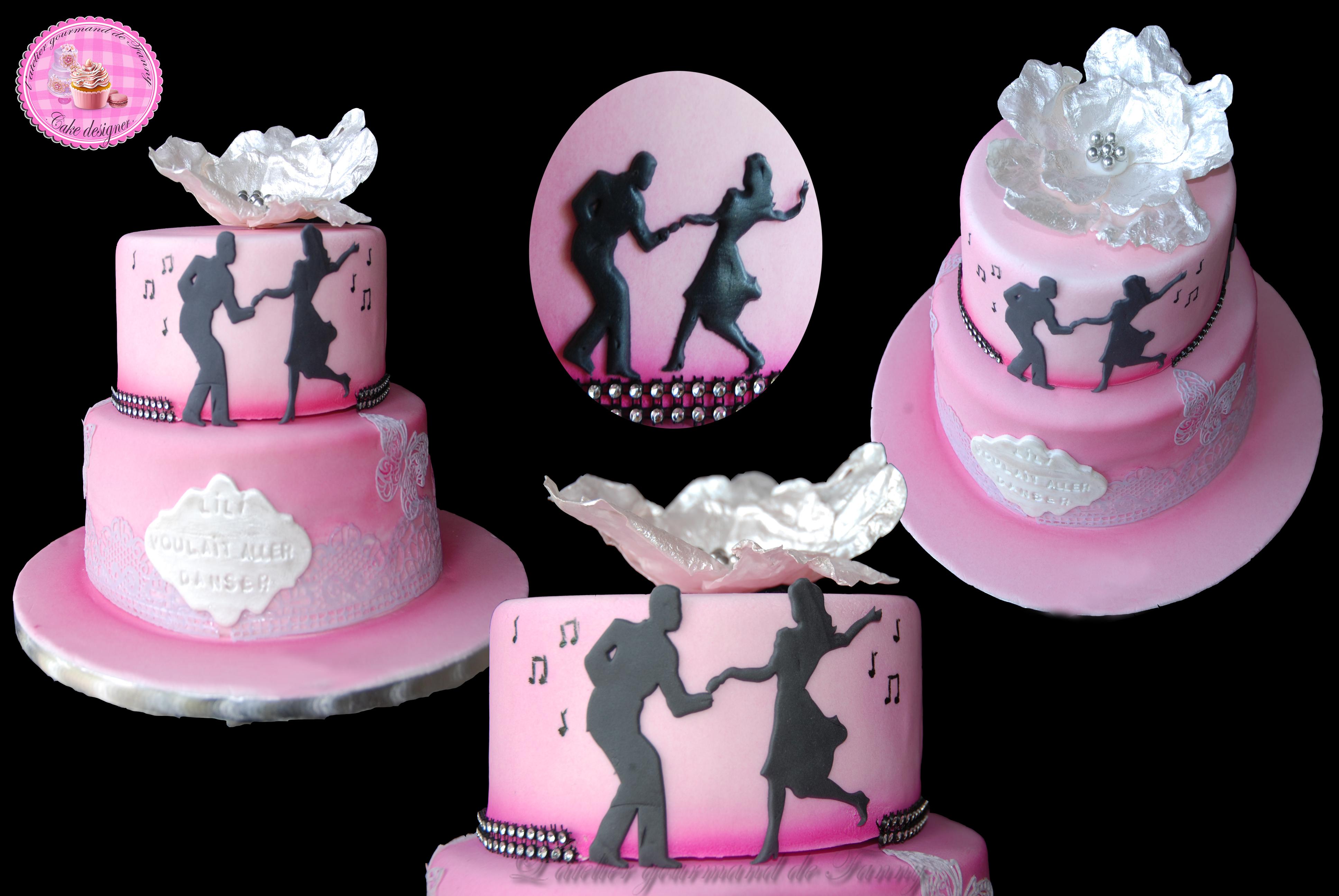 Gâteau d'anniversaire danse