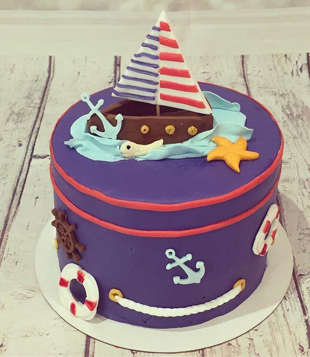 Cake design thème marin avec qq détails