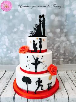Wedding cake 40 parts