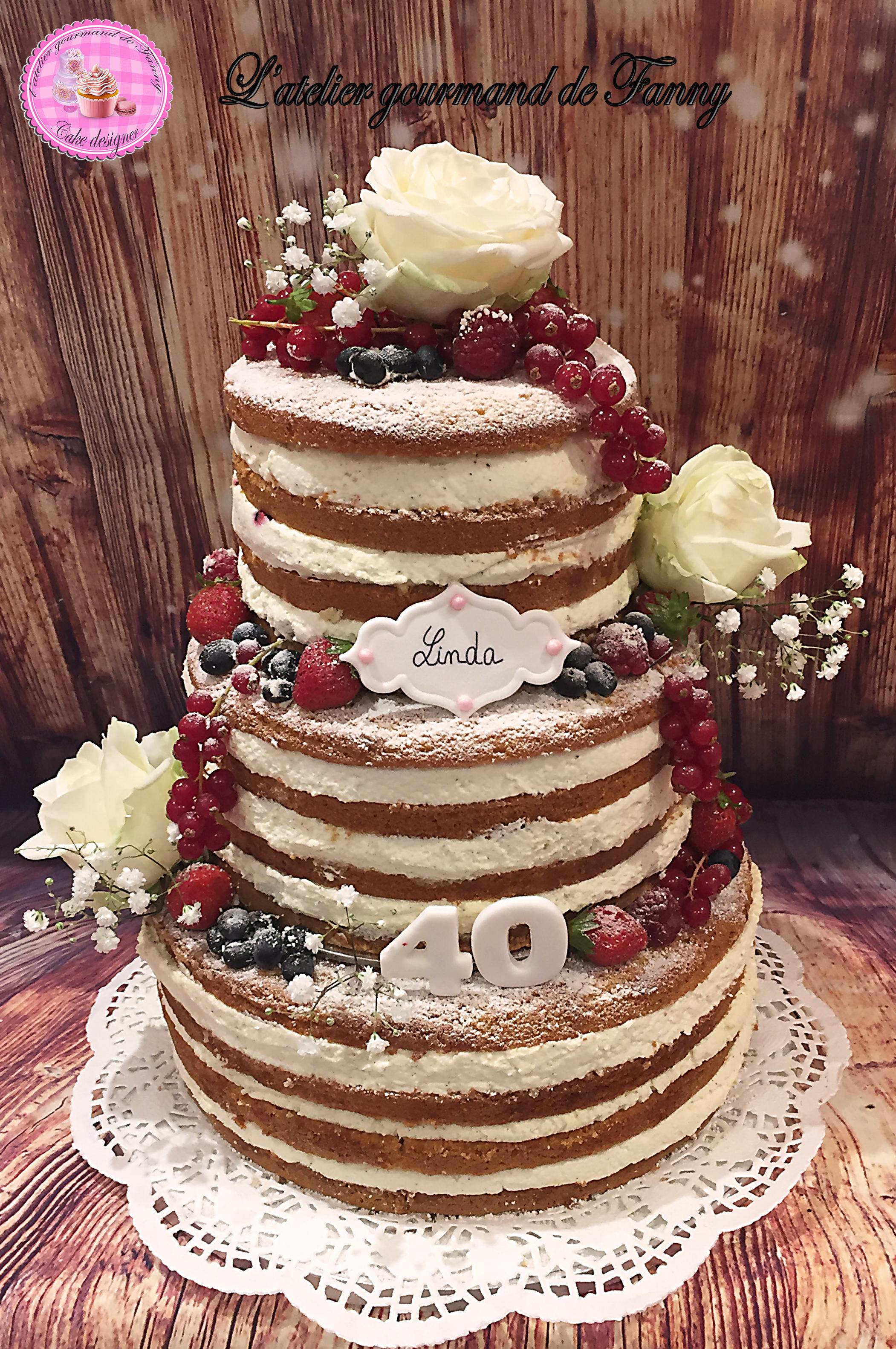 Nude cake 40 Parts