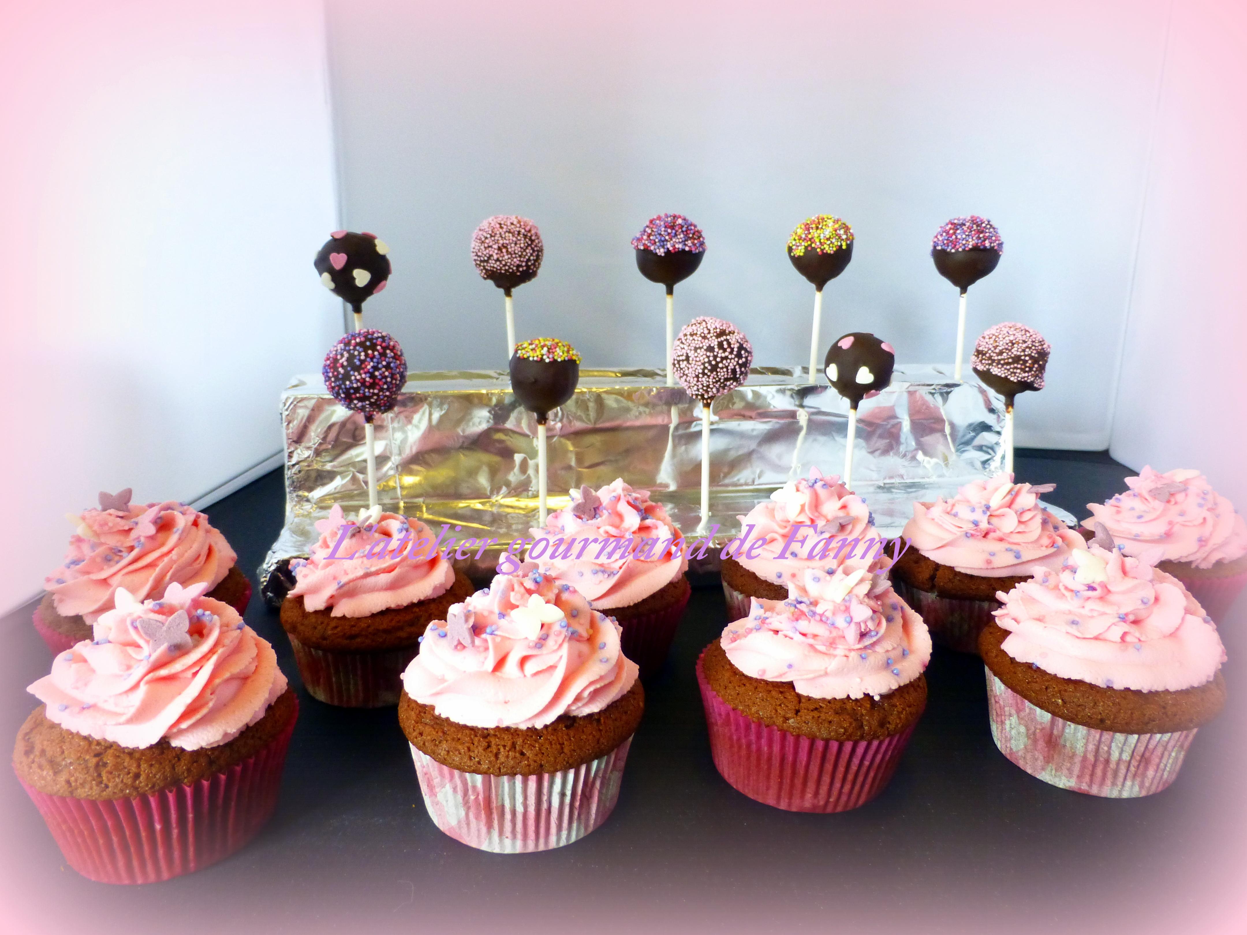 Cupcakes 3 €piece - Sucette 3 € p