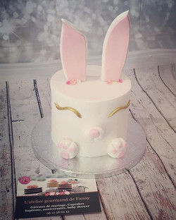 Bunny cake pour une Baby shower, ça chan