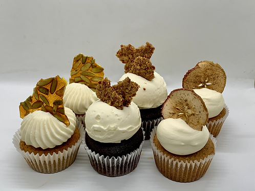 Fall Flavor Cupcakes 6-pack