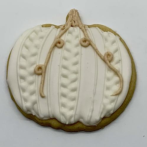 Large Pumpkin Sugar Cookie