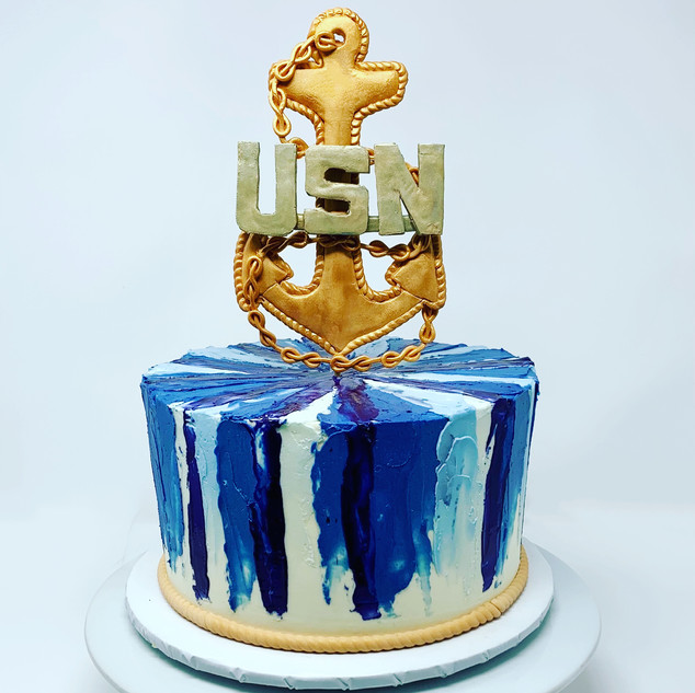 Navy Chief Promotion Cake