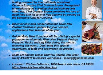 GGM + Mountain River Chef Venison tasting!