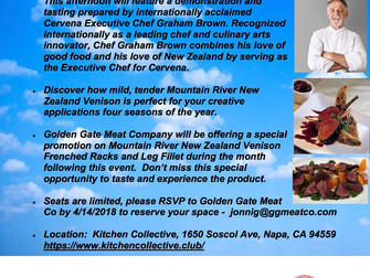 GGM + Mountain River Chef Venison tasting!