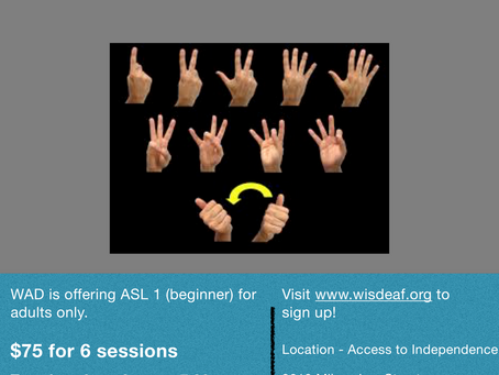 ASL Class offered in Madison, WI