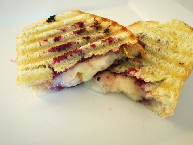 Blackberry Balsamic, Pear and Brie Paninis