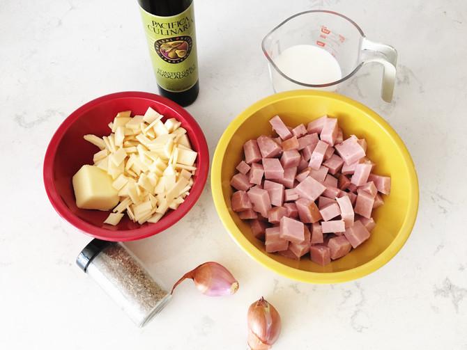 Ham, Thyme and Gouda Stuffed Potatoes