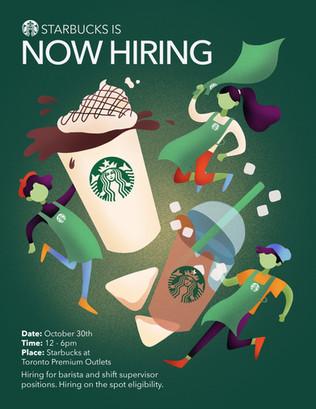 Starbucks Hiring Poster Commission (2018)