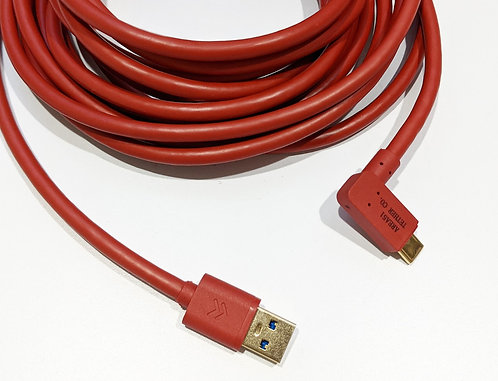 O'Hare USB-C Right Angle to USB A 3.0 Tether Cable 4.6m/15ft