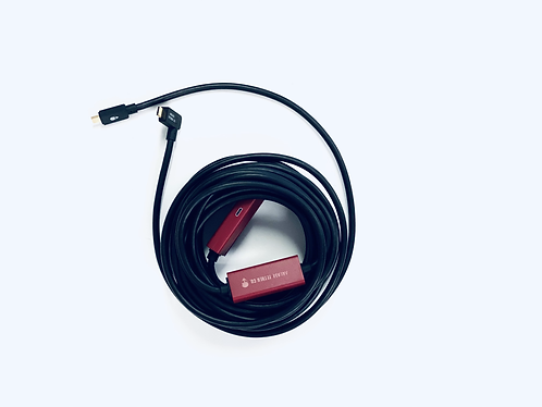 Los Alamos USB-C Right Angle Male to USB-C Male Tether Cable 9.5m/31ft
