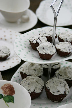 Fly cup cake stands