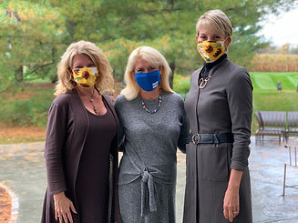 Kim, Nancy and Anne outside with masks.j