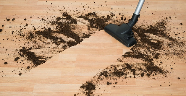 Dirt and dust can cause the finish of hardwoods to dull.