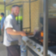 Robert grills the burgers.JPG