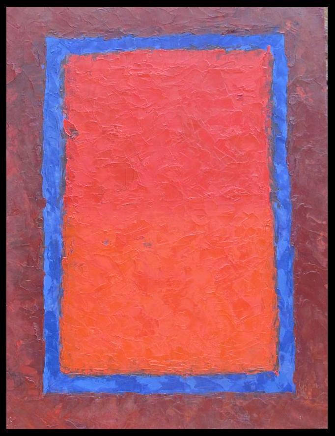 rectangle bleu-2015 huile sur bois 50x65
