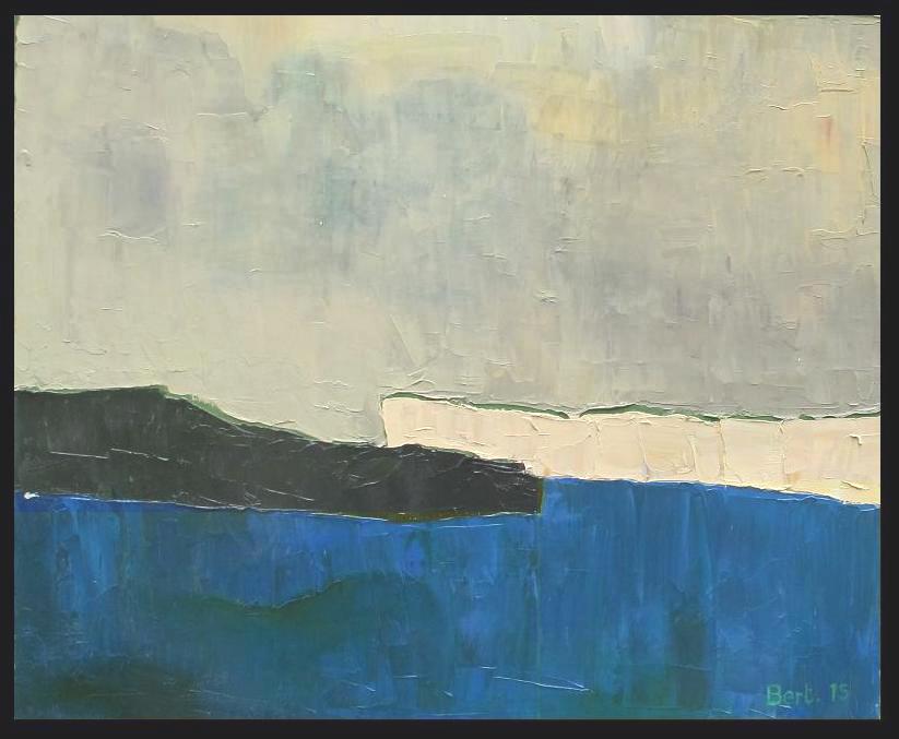 marine aux falaises-2015 huile sur toile