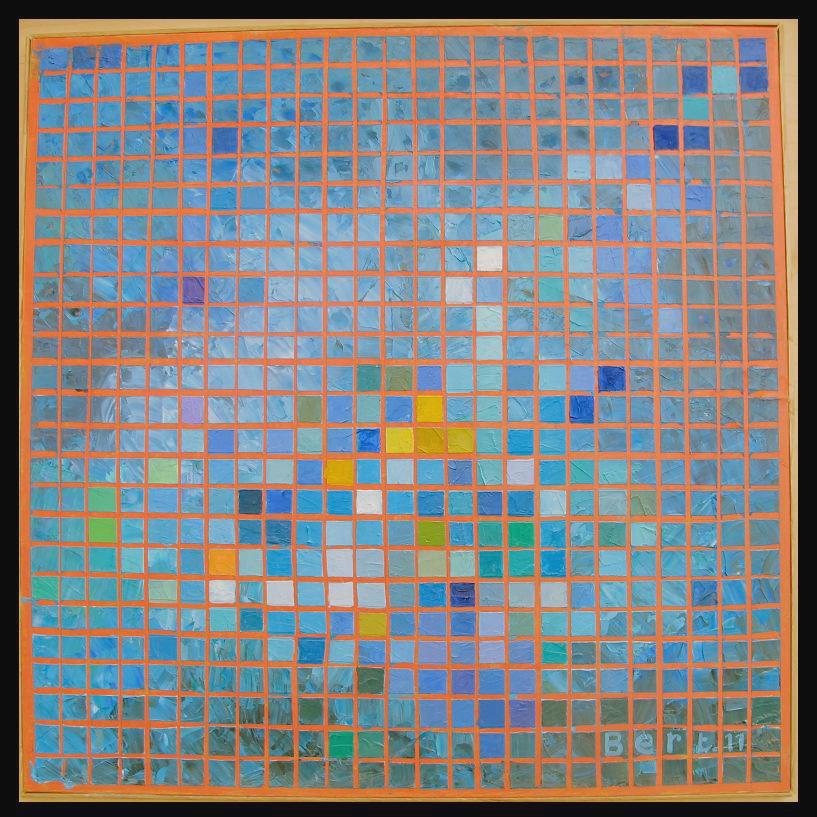 petits_carrés_bleus-2011_huile_sur_bois_