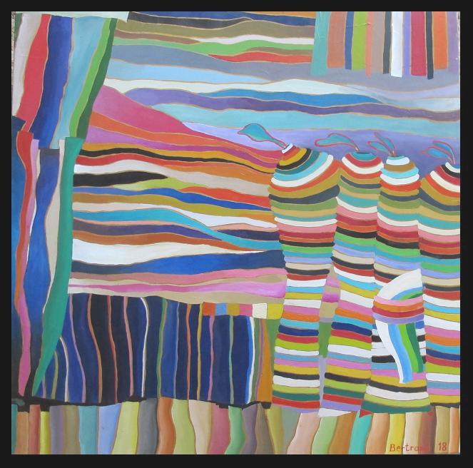 Beaugency-2018 huile sur toile 90x90cm .