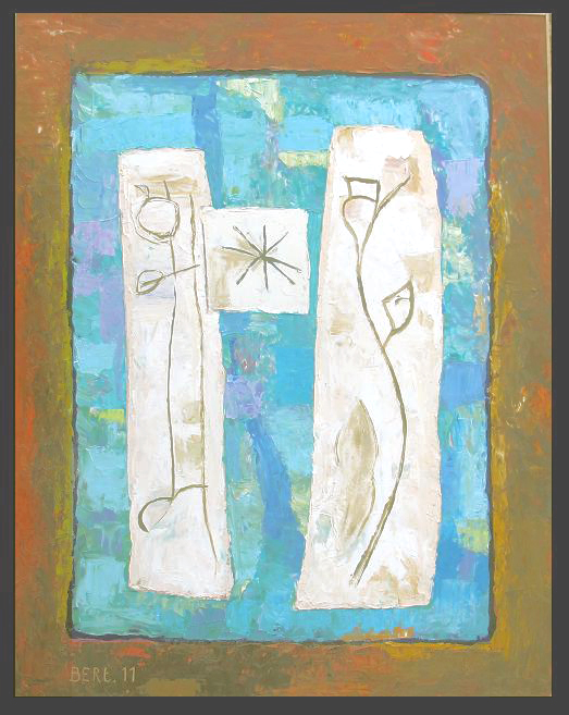 Roger bleu1-2011 huile sur bois 70x90cm.