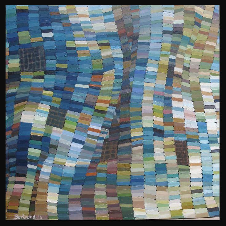 tenture de chaumont bleue-2016 huile sur