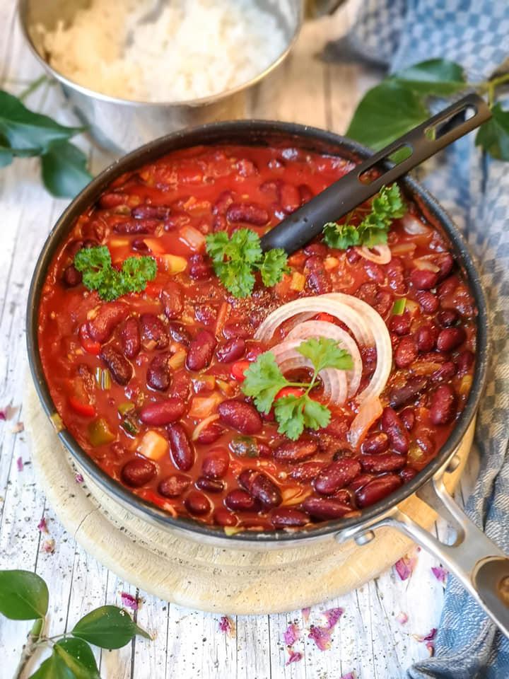 Einfacher Eintopf mit Kidneybohnen und Chili