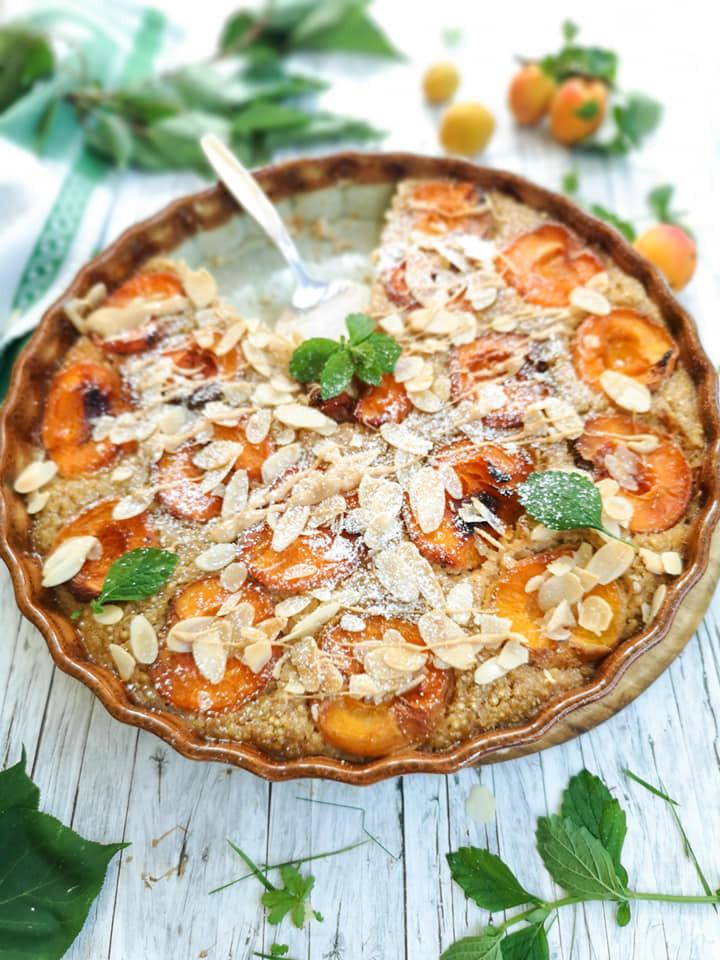 Zuckerfreier Quinoa-Auflauf mit Marillen