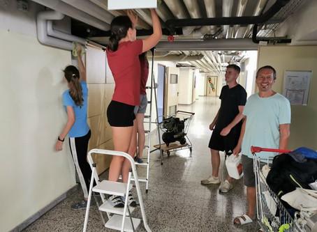 Reinigung des Schulgebäudes