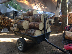 Elk Camp wood trailer