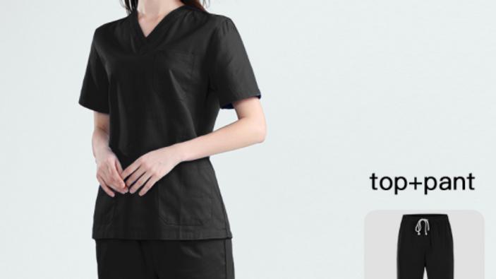 Traje de uniforme para médicas, farmacólogas, para el laboratorio