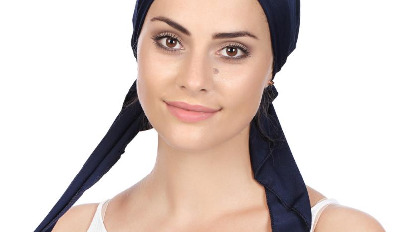 Gorra con capucha de arco de color sólido para mujer