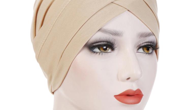 Pañuelo de algodón para mujer, tipo turbante