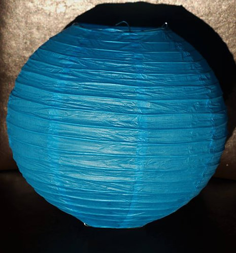 x5 Light Blue Paper Lanterns