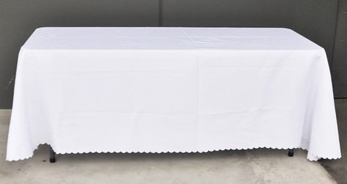 White Rectangle Tablecloths - Lrg