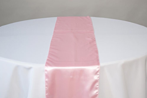 Pink Satin Table Runners