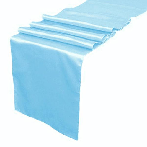 Light Blue Satin Table Runners