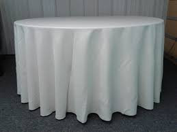 White Round Tablecloths