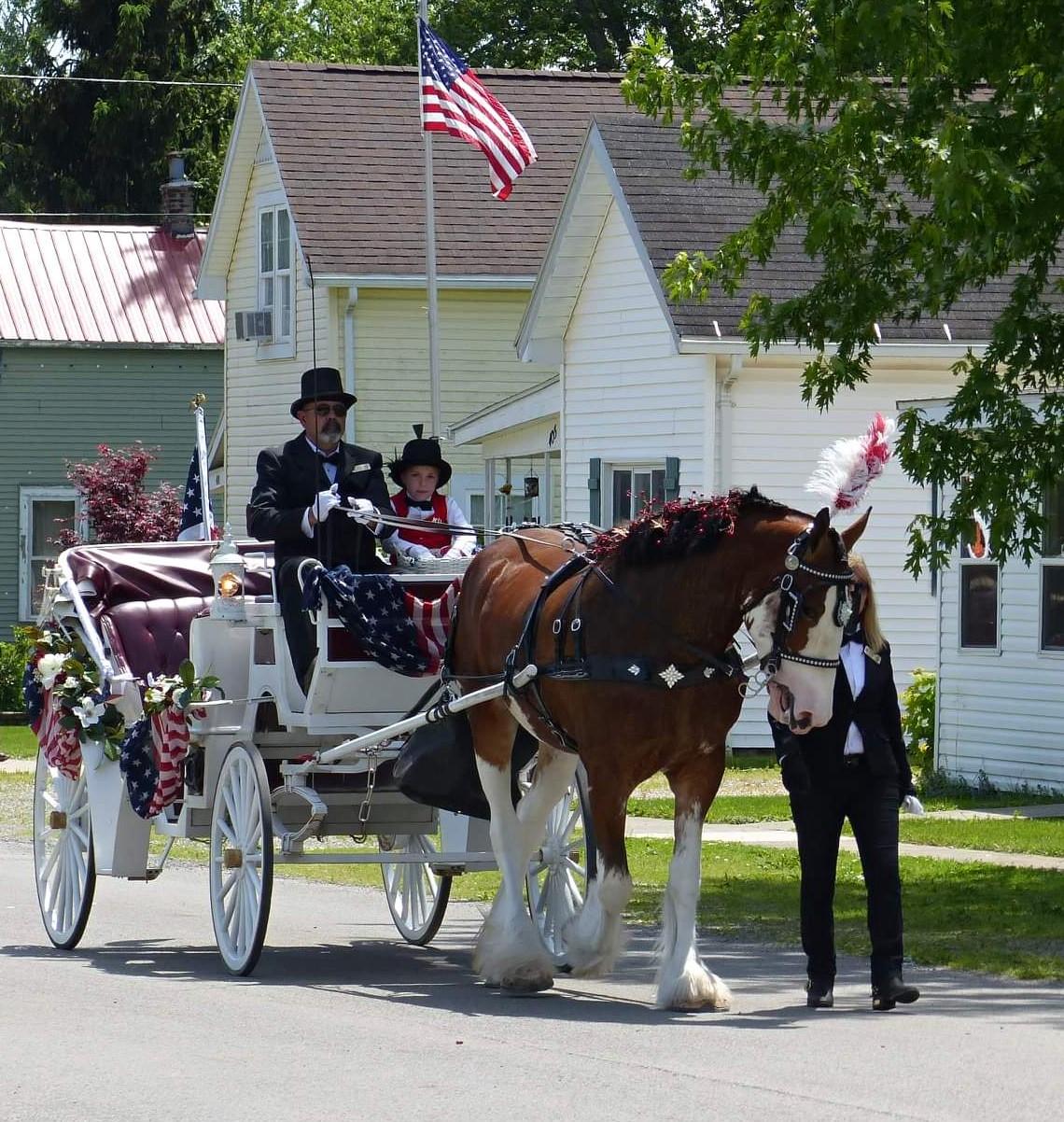 Memorial Day parade, Alger Ohio
