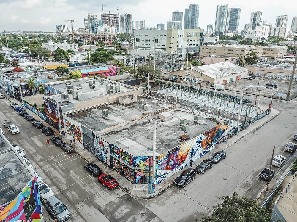 wynwood art district in mimai. graffiti wall art area close to downtown miami