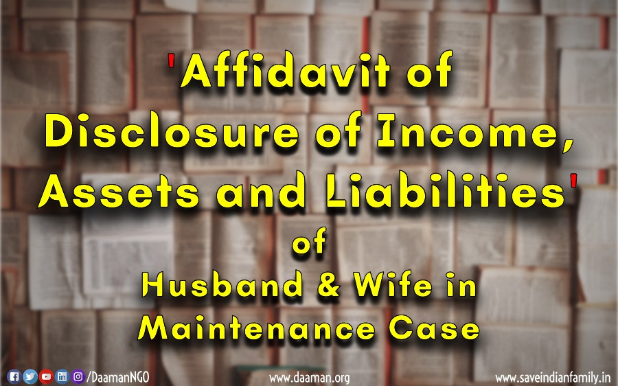 Both Husband and Wife are required to file Income Affidavit