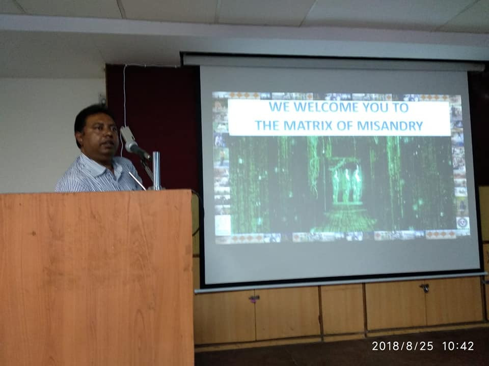 "An orientation program ""Matrix of Misandry"" organised by SFF & MWT"