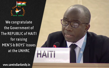 Haiti raises Men's & Boys' issues at the United Nations Human Rights Council