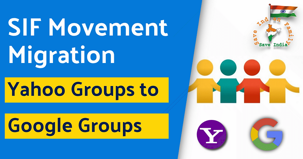 SIF Movement migrated from Yahoo Groups to Google Groups