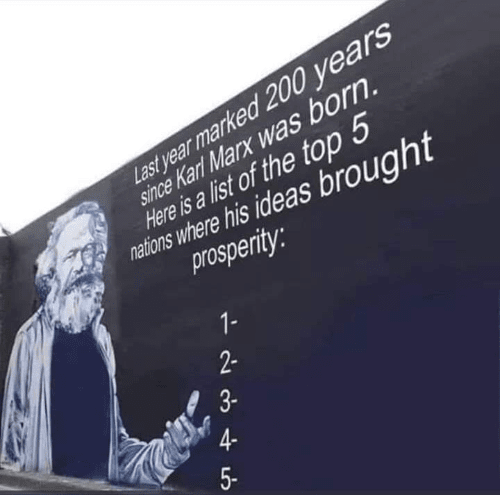 The success of Karl Marx