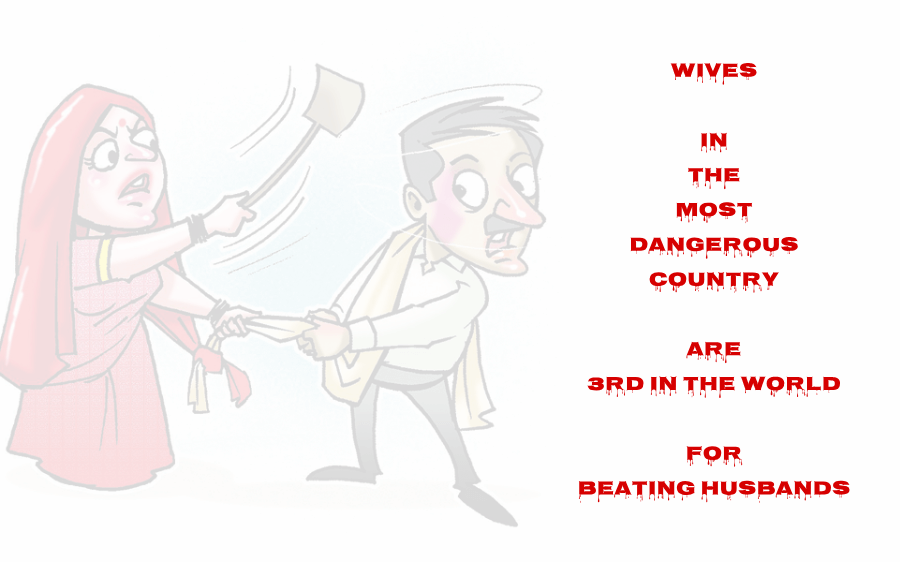 Wives in proclaimed 'most dangerous country for women' are the 3rd in the world for beating husbands...