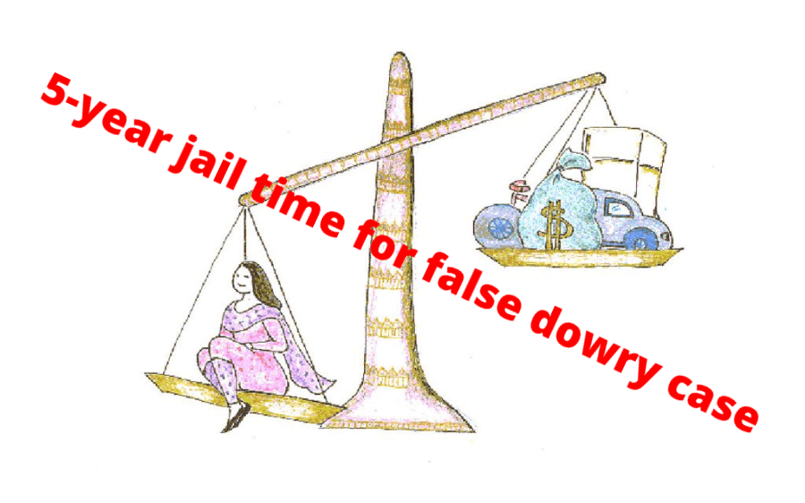 5-year jail time for false dowry case